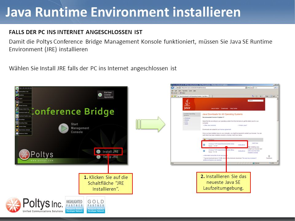 Java Runtime Environment installieren