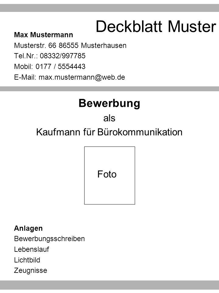 4 kaufmann fr brokommunikation - Was Gehort Zu Einer Bewerbung