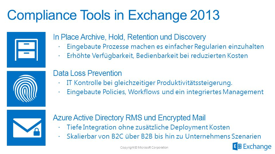 Compliance Tools in Exchange 2013
