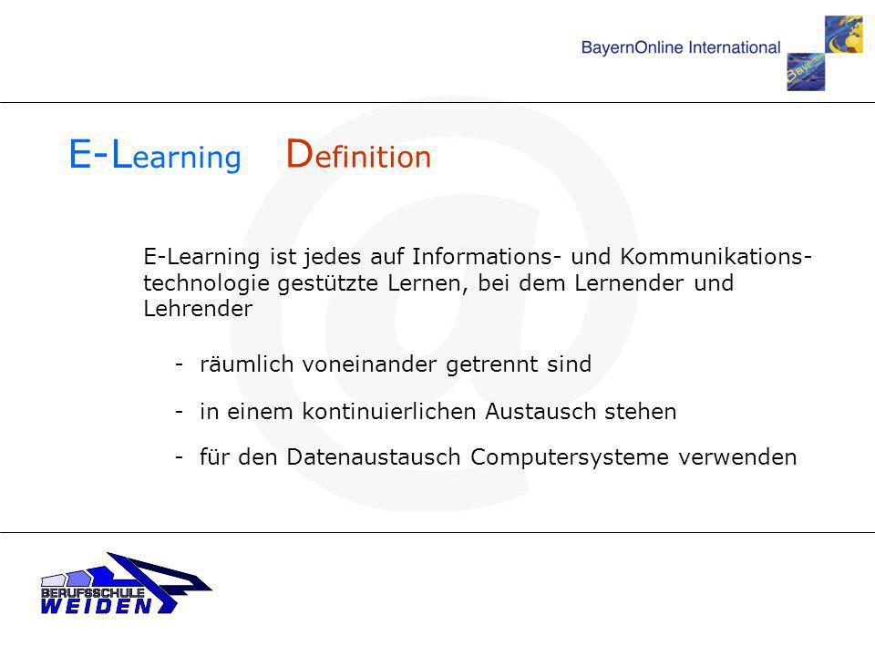 E-Learning Definition