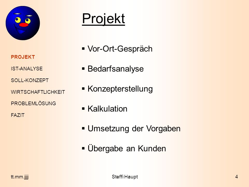 Projektpräsentation Im Rahmen Der Abschlussprüfung Zur Ppt Video