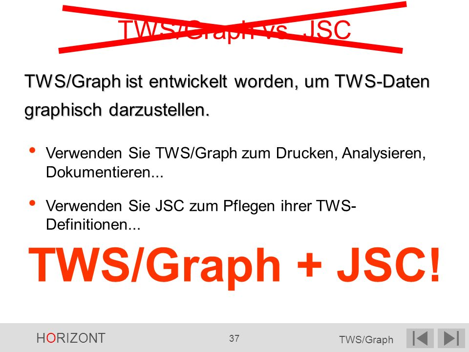 TWS/Graph + JSC! TWS/Graph vs. JSC