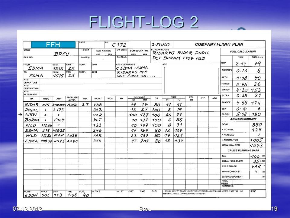 FLIGHT-LOG 2 FFH 07.12.2012 Breu