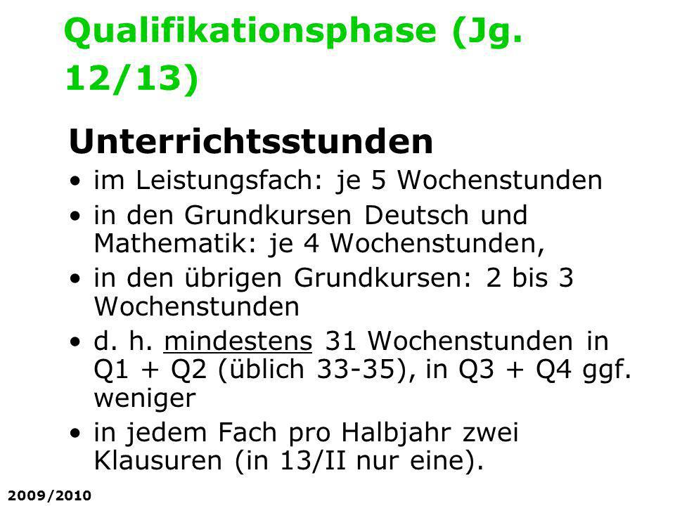 Qualifikationsphase (Jg. 12/13)