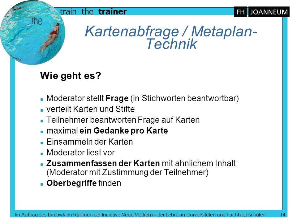 Kartenabfrage / Metaplan-Technik