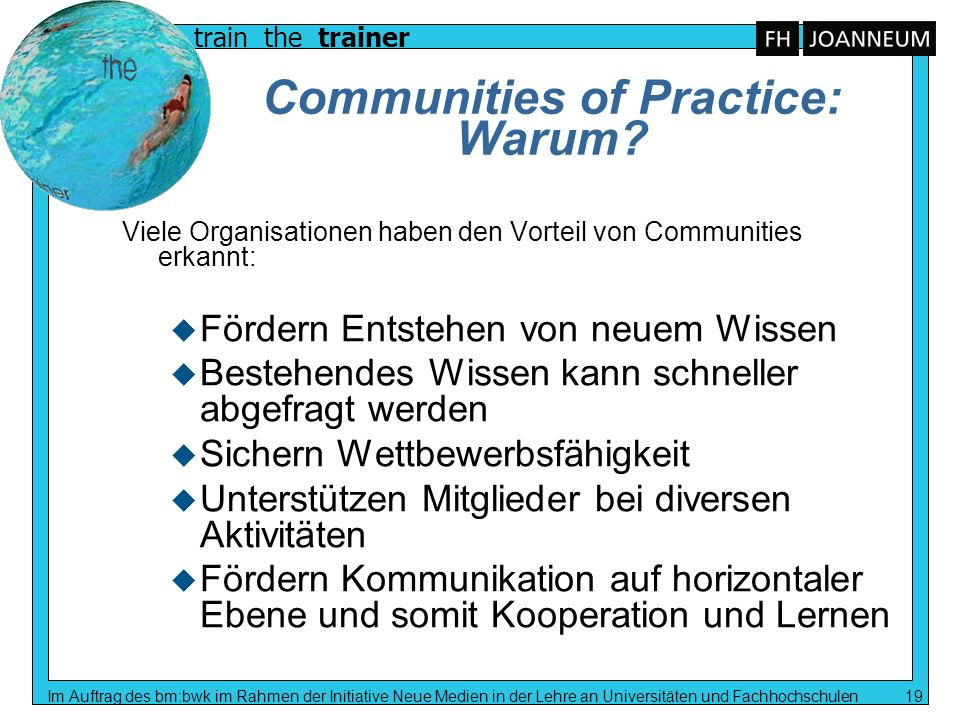 Communities of Practice: Warum