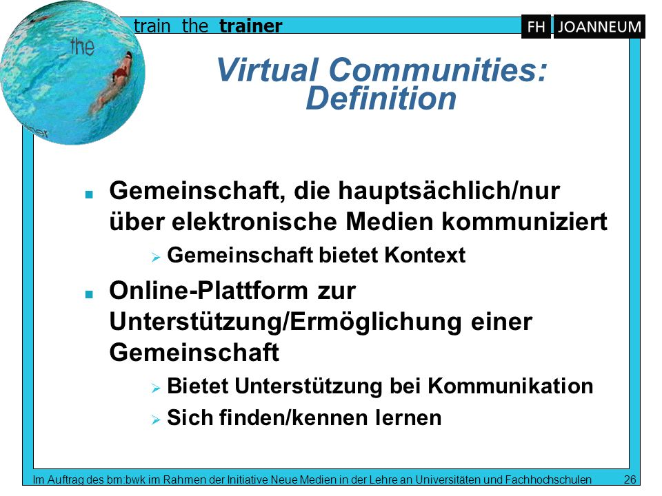 Virtual Communities: Definition
