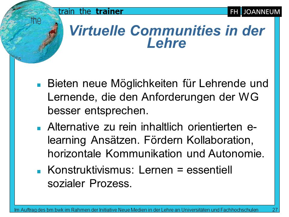 Virtuelle Communities in der Lehre