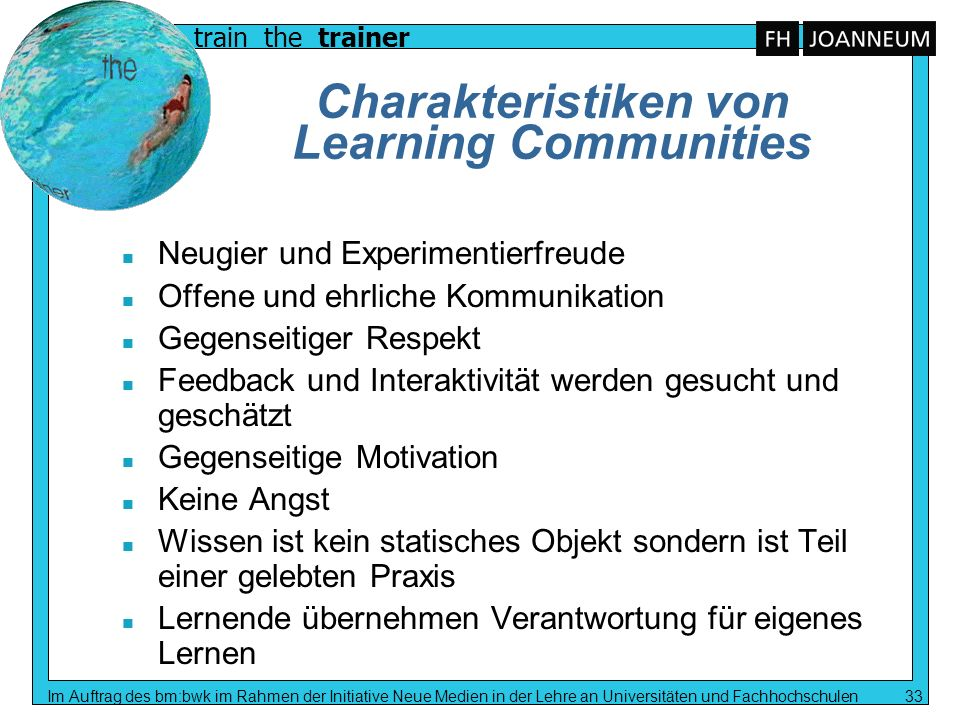 Charakteristiken von Learning Communities