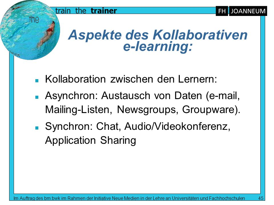 Aspekte des Kollaborativen e-learning: