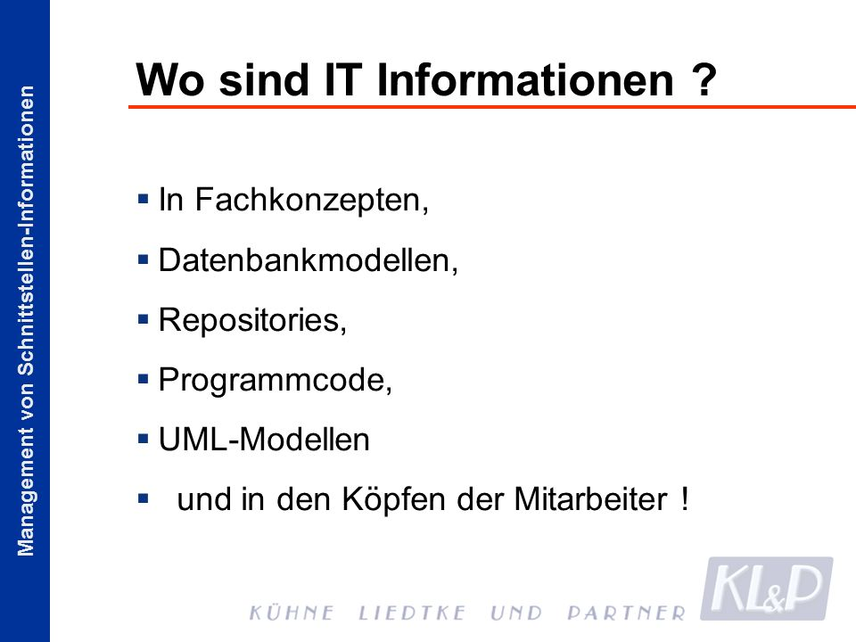 Wo sind IT Informationen