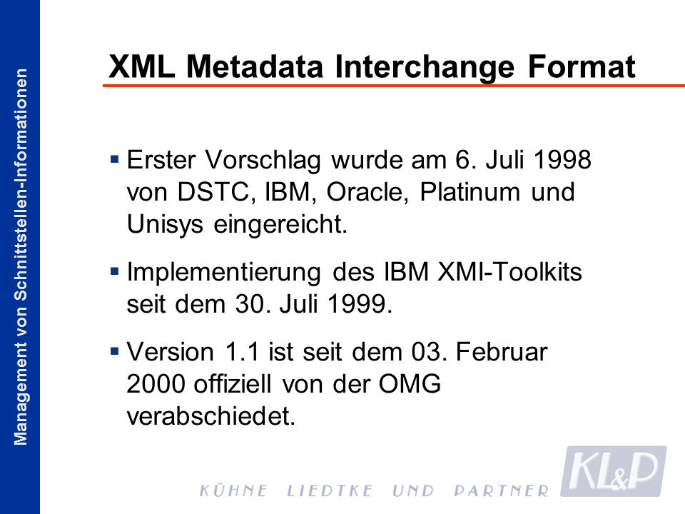 XML Metadata Interchange Format