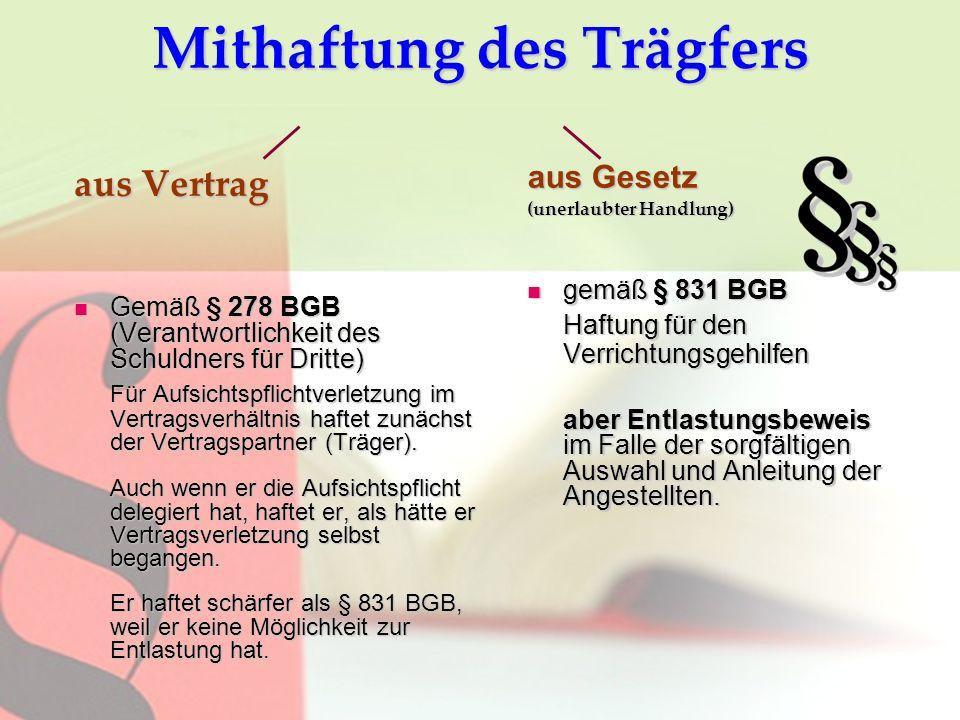 Aufsichtspflicht & Haftung - ppt herunterladen