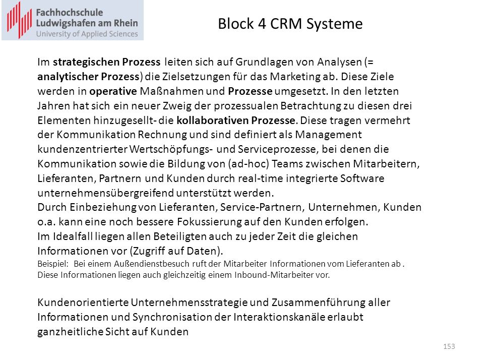 Block 4 CRM Systeme