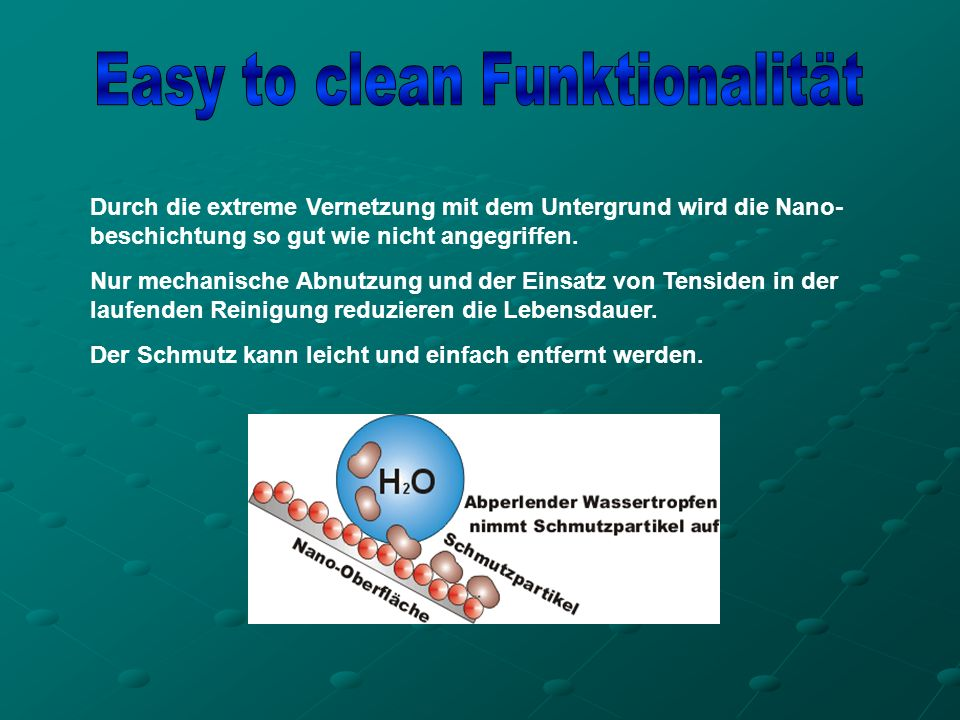 Easy to clean Funktionalität