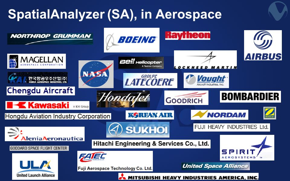 SpatialAnalyzer (SA), in Aerospace