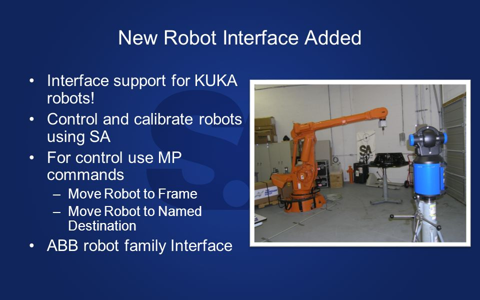 New Robot Interface Added