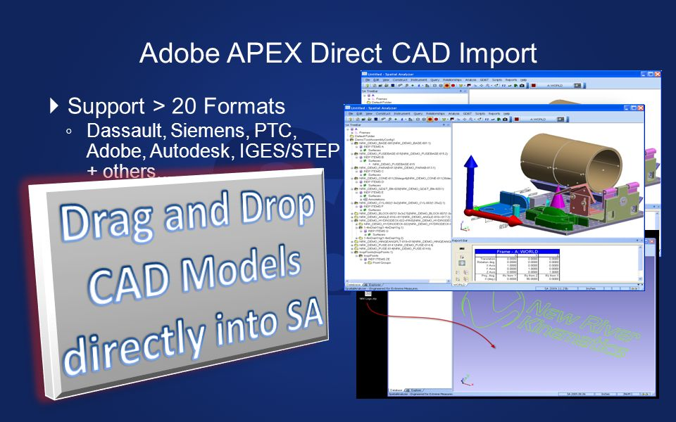 Adobe APEX Direct CAD Import