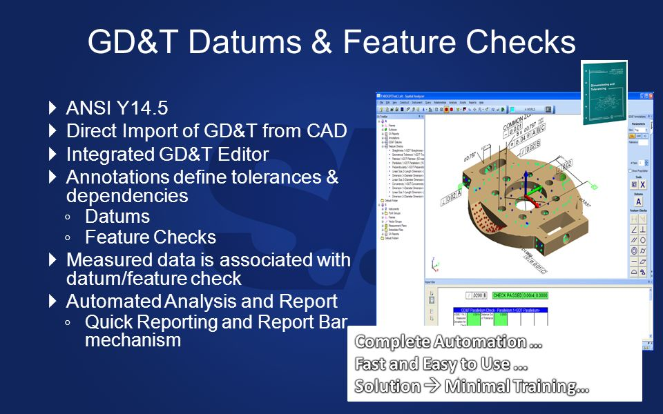 GD&T Datums & Feature Checks
