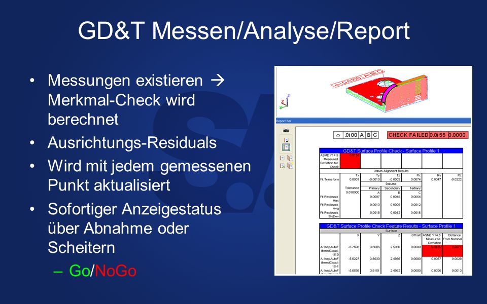 GD&T Messen/Analyse/Report