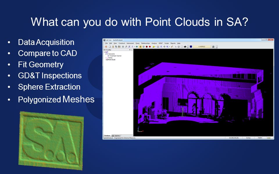 What can you do with Point Clouds in SA