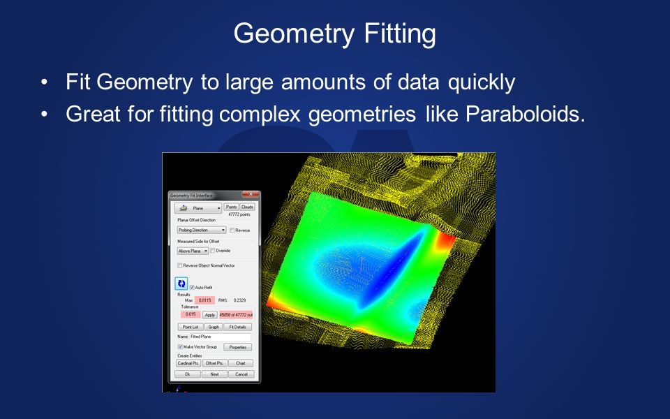 Geometry Fitting Fit Geometry to large amounts of data quickly