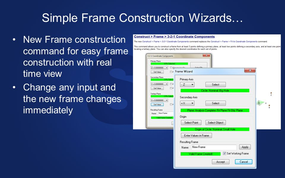 Simple Frame Construction Wizards…