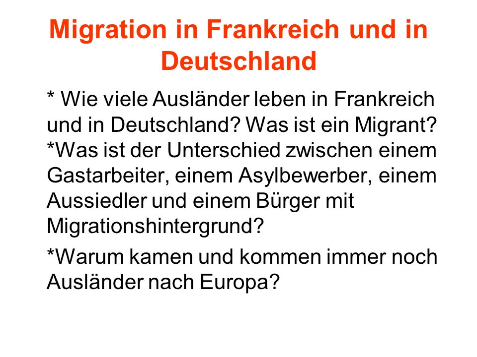 Immigration- Identität- Integration - ppt herunterladen