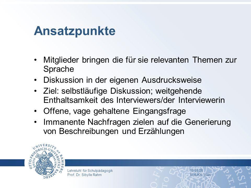 Gruppendiskussionsverfahren und Dokumentarische Methode - ppt video ...