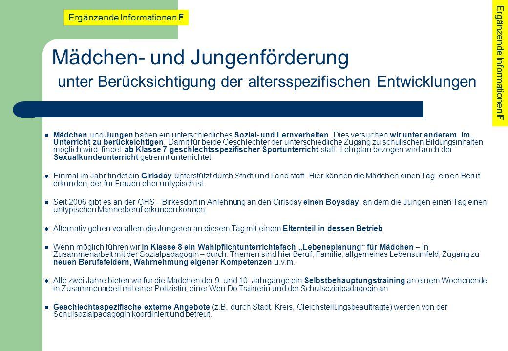 Schulprogramm der GHS - Birkesdorf. - ppt herunterladen