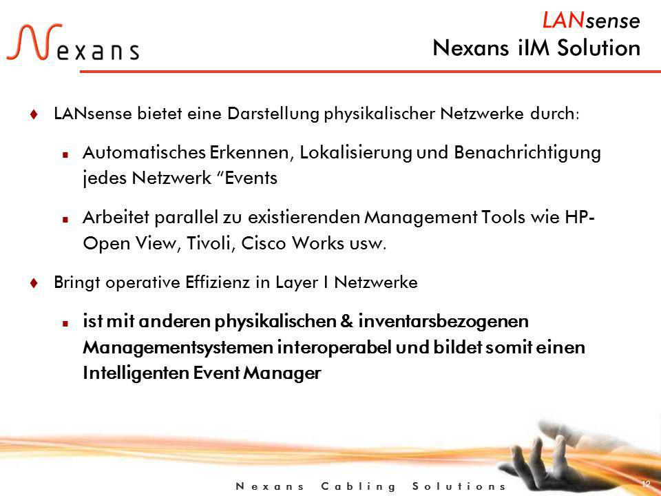 LANsense Nexans iIM Solution