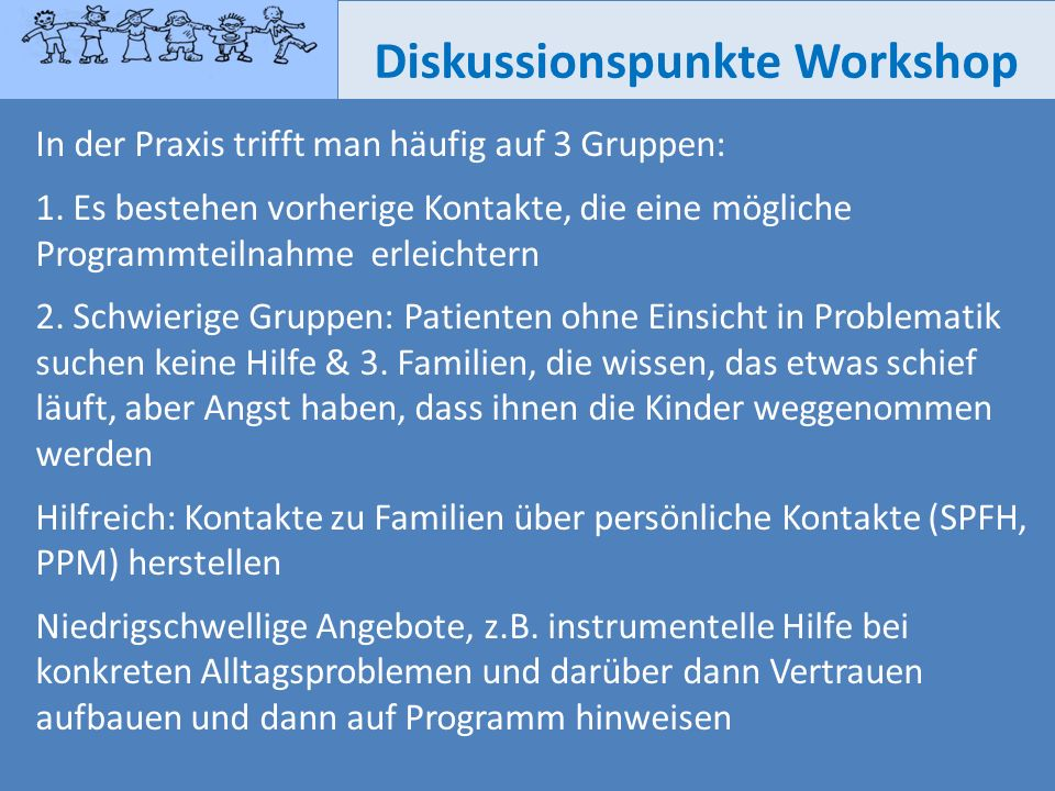Diskussionspunkte Workshop