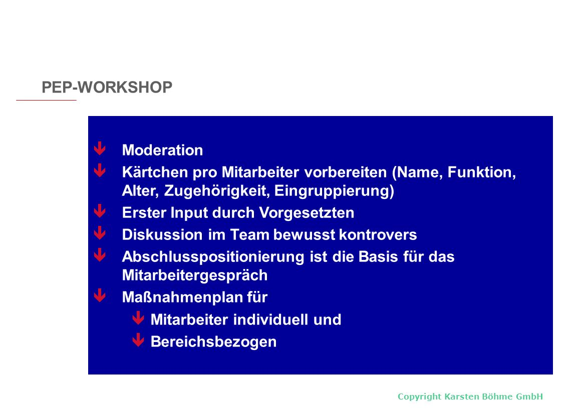 PEP-WORKSHOP Moderation