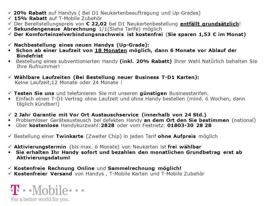 T Mobile Sonderkonditionen Für Mitglieder Der Svgen Und Bgl