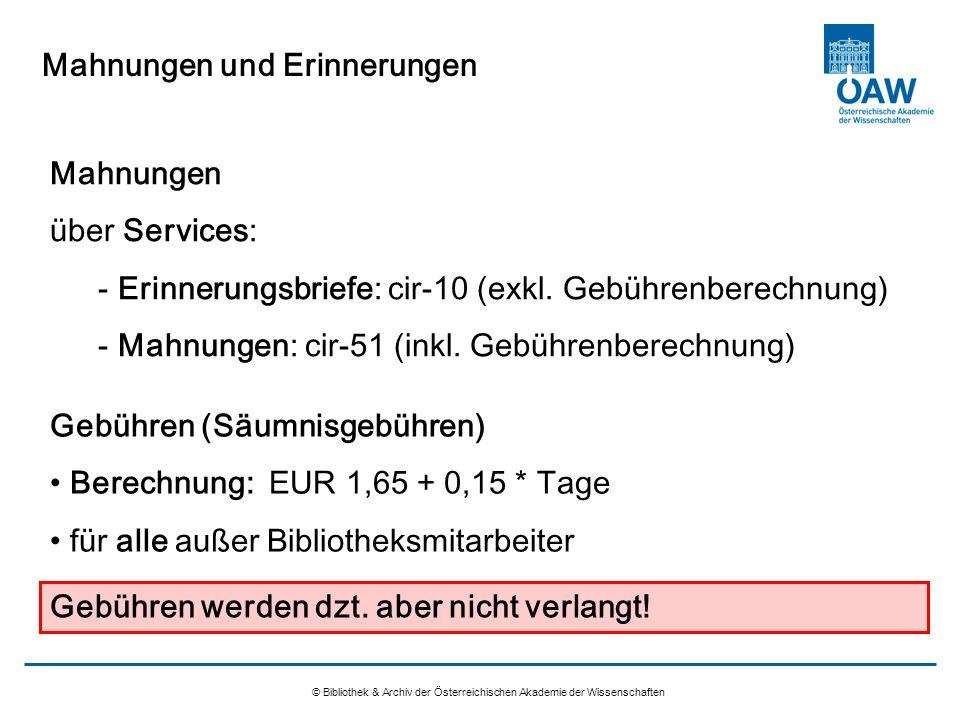 Aleph 500 Ausleihe An Der öaw österreichische Akademie Der