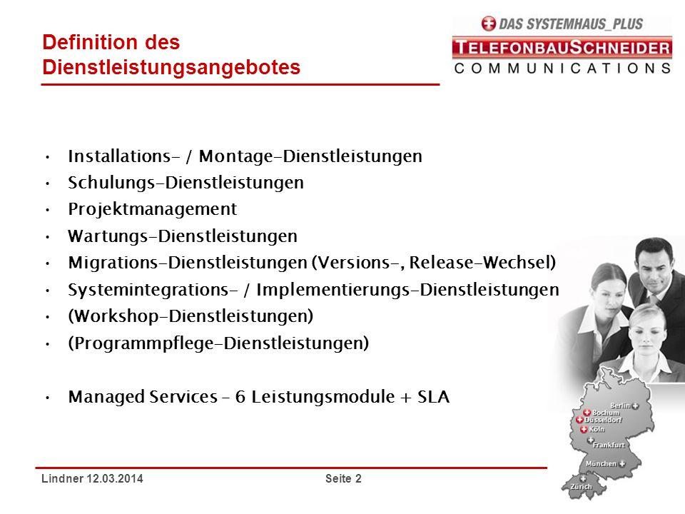 Dienstleistungs Portfolio Telefonbau Schneider Communications Ppt