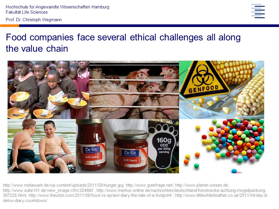 Food companies face several ethical challenges all along the value chain