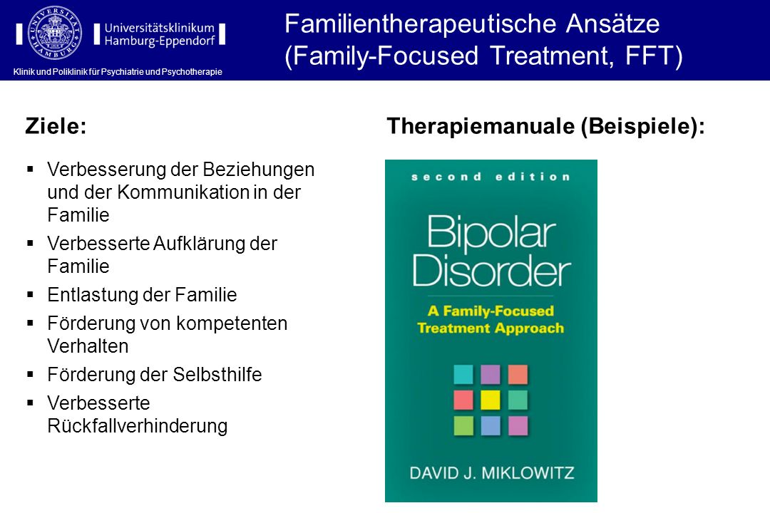 Familientherapeutische Ansätze (Family-Focused Treatment, FFT)