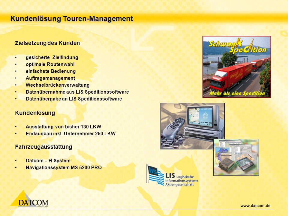 Kundenlösung Touren-Management