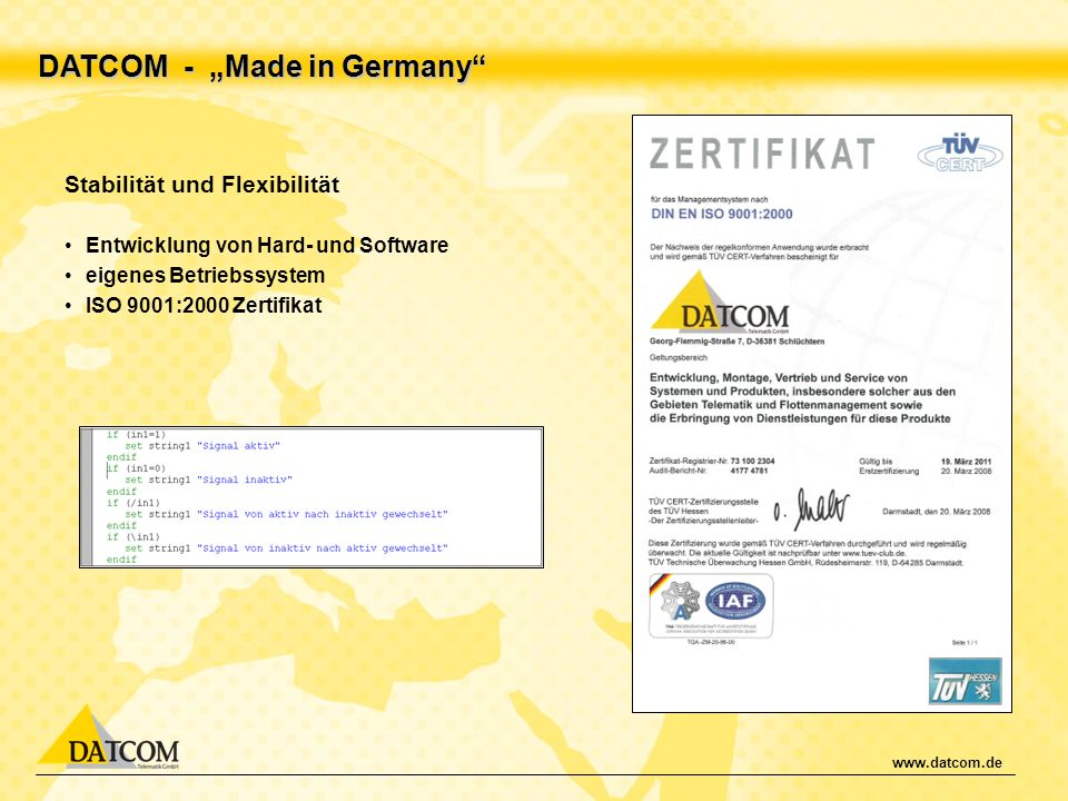 "DATCOM - ""Made in Germany"