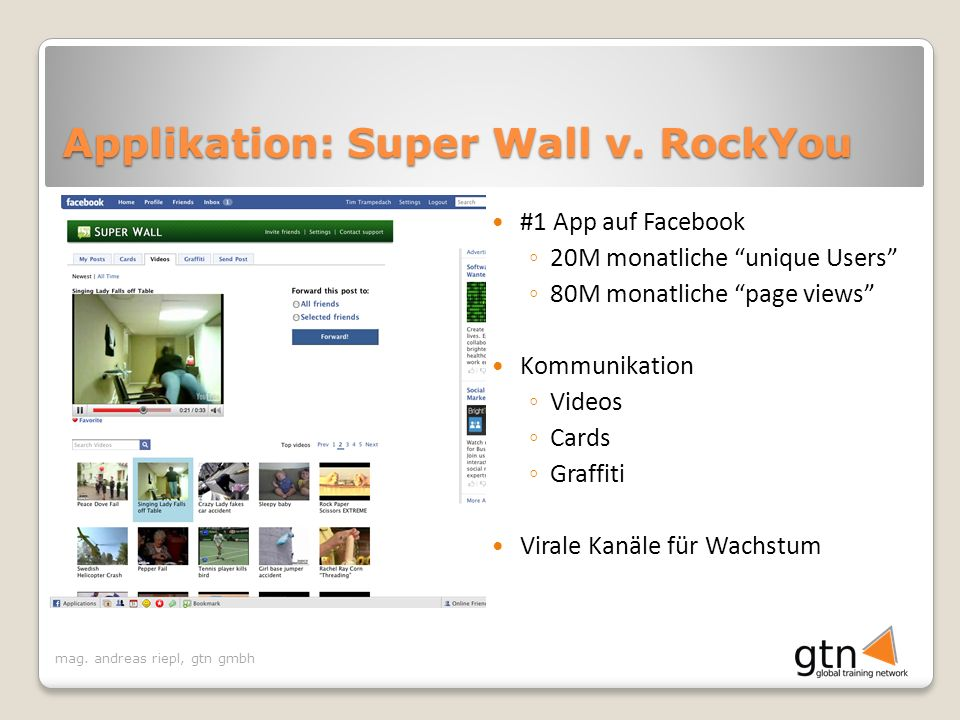 Applikation: Super Wall v. RockYou