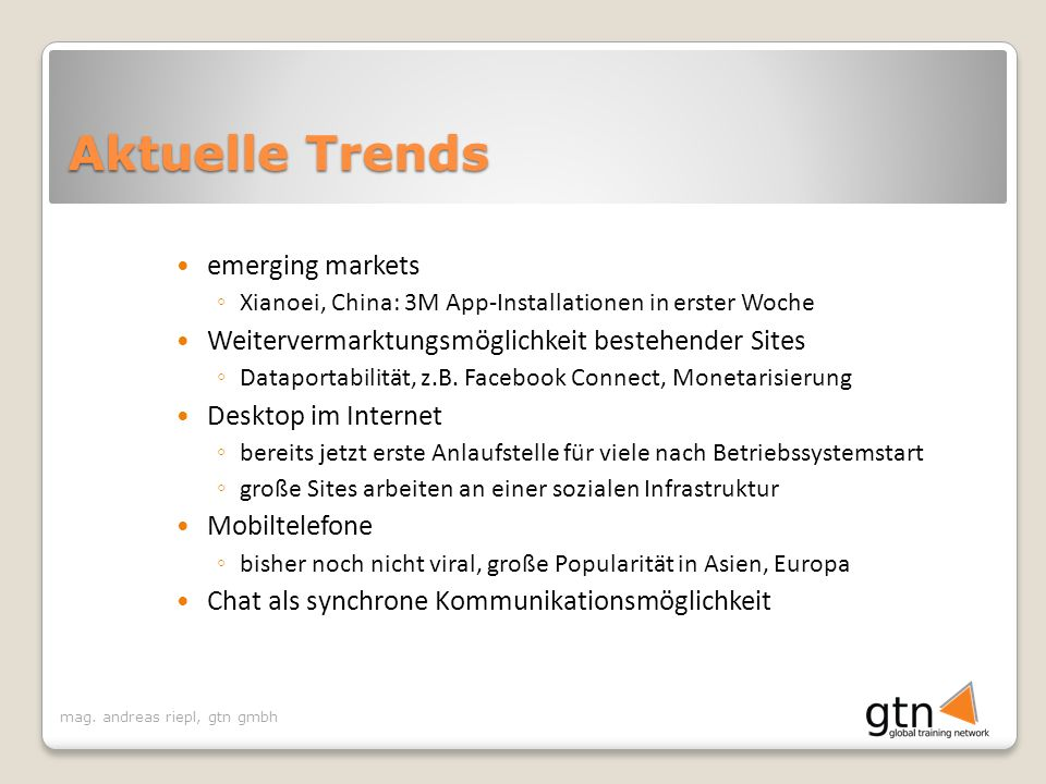 Aktuelle Trends emerging markets