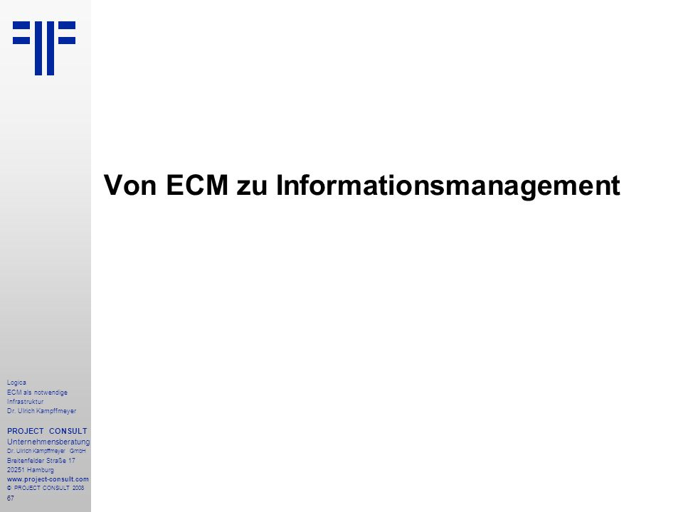 Von ECM zu Informationsmanagement