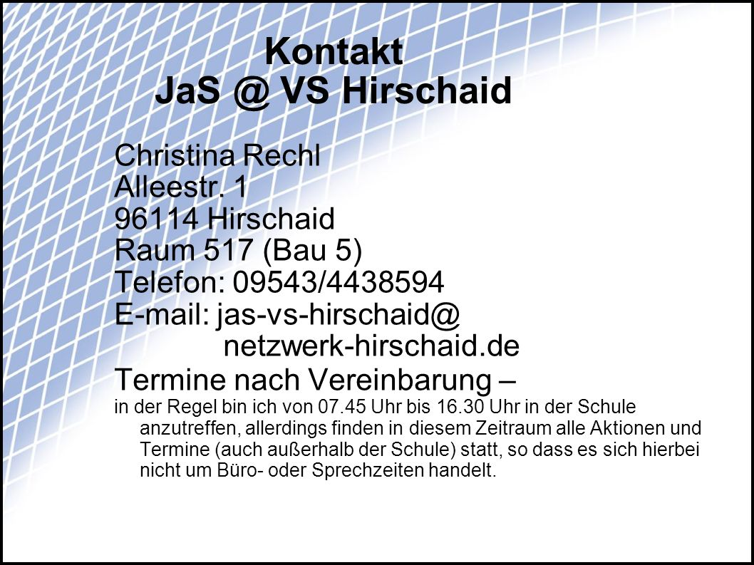 Kontakt VS Hirschaid