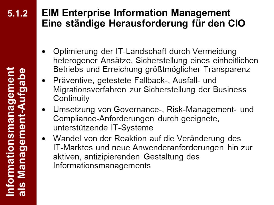 Informationsmanagement als Management-Aufgabe