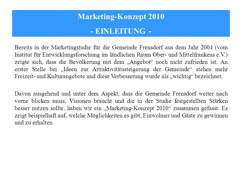Marketing Konzept Einleitung Ppt Herunterladen