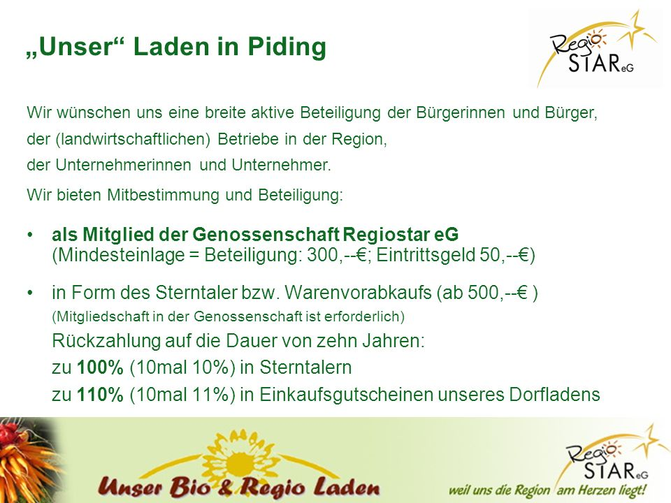 """Unser Laden in Piding"