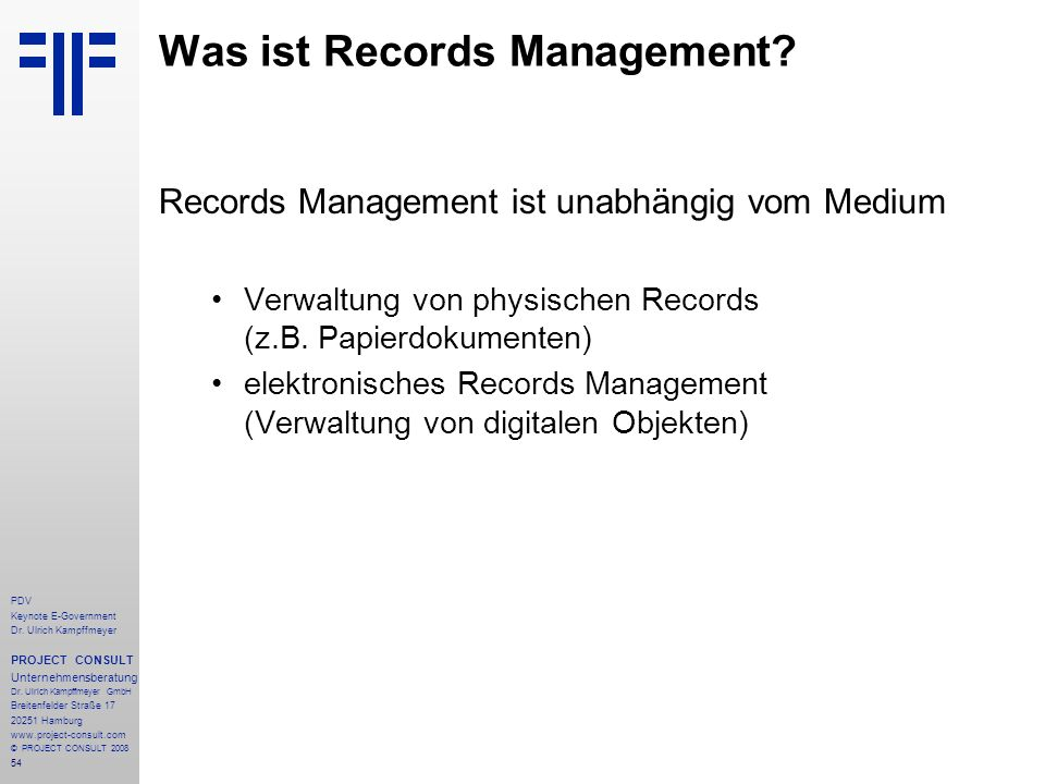 Was ist Records Management