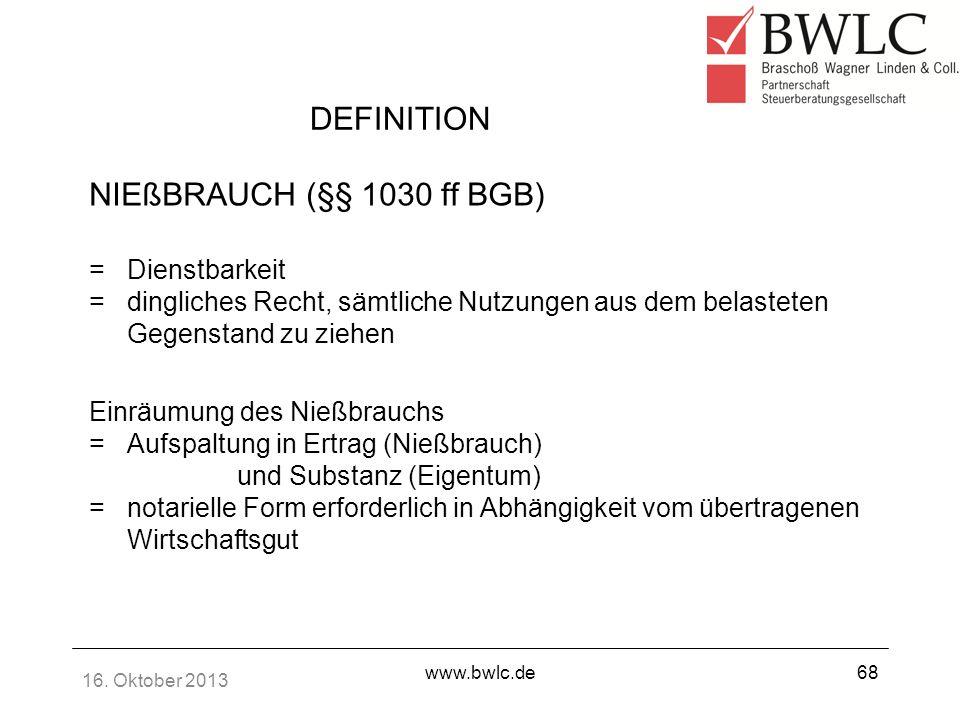 definition niebrauch 1030 ff bgb dienstbarkeit - Niesbrauch Beispiel