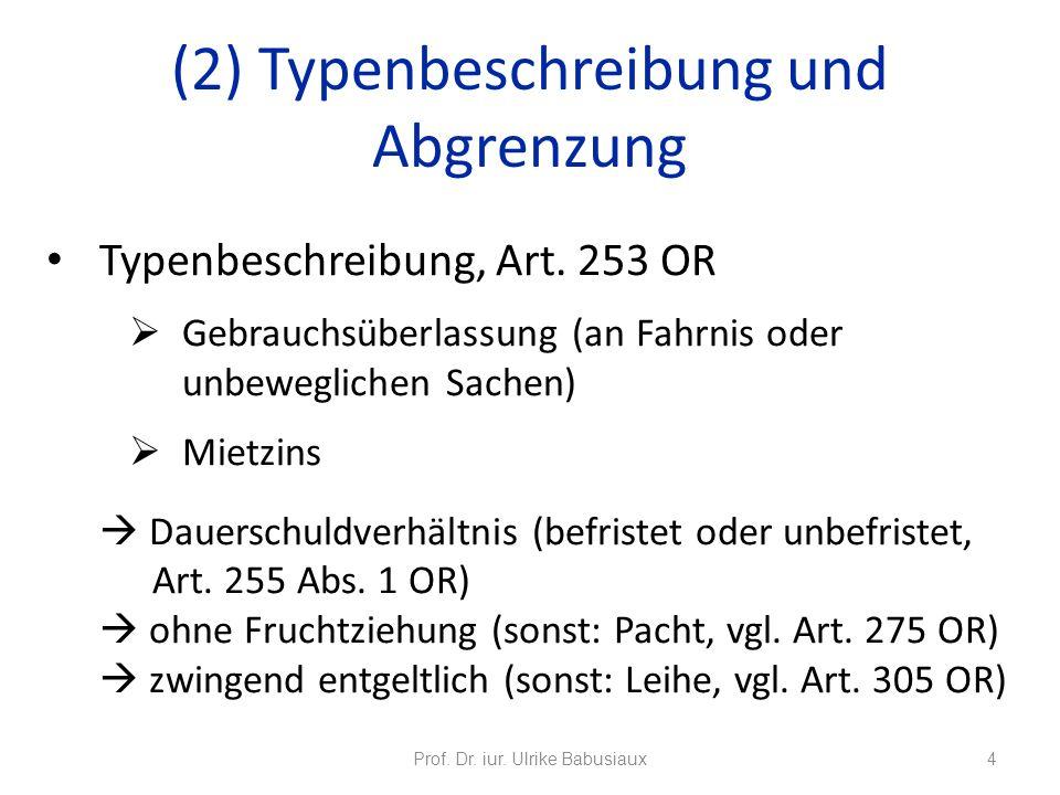 Mietvertrag Prof Dr Iur Ulrike Babusiaux Ppt Herunterladen